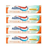 (4 Pack) Aquafresh Extreme Clean Pure Breath Action Fresh Mint Fluoride Toothpaste 5.6 oz. Box