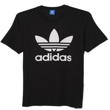 - New Men's Adidas Original Authentic Trefoil Logo Tee Shirt T-Shirt Crewneck Graphic Black