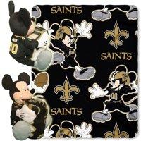 "Disney NFL New Orleans Saints Hugger Pillow and 40"" x 50"" Throw Set"