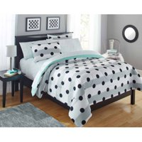 Your Zone Grey Stripe Dot Bed in a Bag Comforter Set, 1 Each
