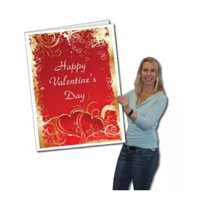 2'x3' Giant Valentine's Day Card W/Envelope