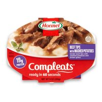 (3 Pack) Hormel Compleats Beef Rib Tips with Mashed Potatoes and Gravy, 9 Ounce