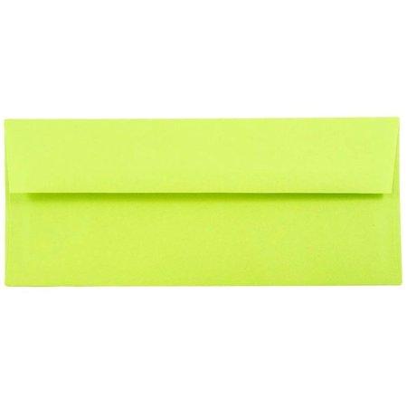 Ultra Thin Envelope - JAM Paper #10 Business Envelope, 4 1/8 x 9 1/2, Brite Hue Ultra Lime Green, 500/box