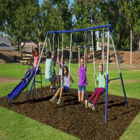 Sportspower Arcadia Metal Swing Set With Two Adjustable