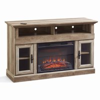 Better Homes & Gardens Crossmill Fireplace Media Console Weathered Finish