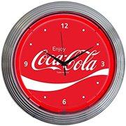 Neonetics Drinks Coca Cola Wave Neon Wall Clock 15 Inch