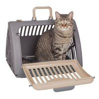 SportPet Designs Travel Cat Carrier Front Door Plastic Collapsible, Large