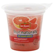 Del Monte Fruit Naturals Red Grapefruit in Artificially Sweetened Water 6.5 oz. Cup