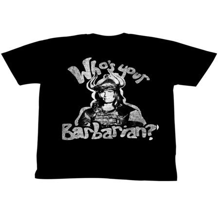 Conan Movie Whos Your Barbarian Adult T-Shirt Tee](Woman Barbarian)