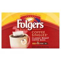 Folgers Coffee Singles Classic Roast Coffee Bags, 38 count, 6 oz