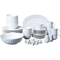 Gibson Home Regalia 46-Piece Dinnerware and Serveware Set, Service for 6