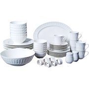 Gibson Home Regalia 46-Piece Dinnerware and Serveware Set, Service for 6