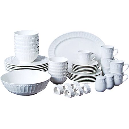 - Gibson Home Regalia 46-Piece Dinnerware and Serveware Set, Service for 6