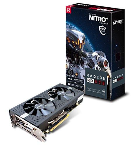Sapphire 11266-09-20G Radeon NITRO+ RX 570 8GB GDDR5 DUAL HDMI / DVI-D / DUAL DP with backplate (UEFI) PCI-E Graphics Card