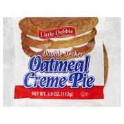 Little Debbie Snack Oatmeal Creme Pies Double Decker Snack Cakes, 3.9 oz