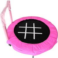 JumpKing Trampoline 4-Foot Bouncer for Kids, Pink Tic-Tac-Toe