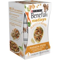 (8 Pack) Purina Beneful Medleys Romana Style Wet Dog Food, 3-Oz, Pack of 3