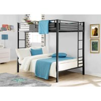 Dorel Full Over Full Metal Bunk Bed, Multiple Finishes