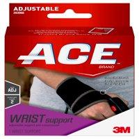 ACE Brand Wrist Support, Adjustable, Black, 1/Pack