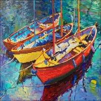 "Diamond Dotz Diamond Embroidery Facet Art Kit 21.5""X18""-Dream Boats"