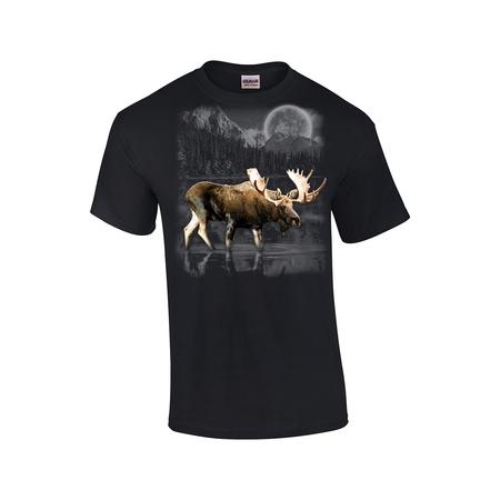 Moose Wilderness Moonlight & Mountains T-shirt