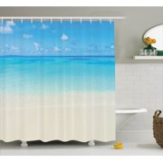 Ocean Decor Paradise Beach In Tropical Caribbean Sea With Fantastic Sky View Calm Beach House Theme