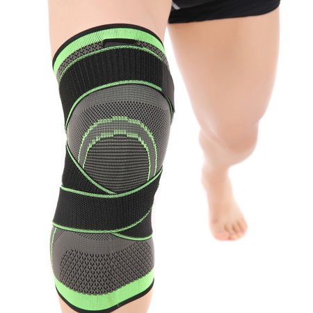 Knee Brace Compression Sleeve with Strap for Pain Relief, Meniscus Tear, Arthritis, ACL, MCL, Quick Recovery - Knee Support for Running, Basketball, CrossFit by (Best Knee Brace For Mcl Tear)