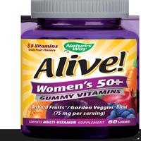 Alive! Womens 50+ Gummy Vitamins Multivitamin Supplements 60 Count