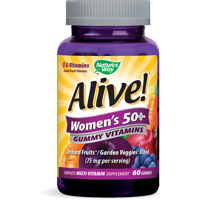 Alive! Women's 50+ Gummy Vitamins, Multivitamin Supplements, 60 Count