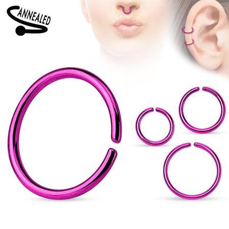 Seamless Nose Ring Bendable Steel Nose Hoop 20G 18G 16G Black Gold Multi