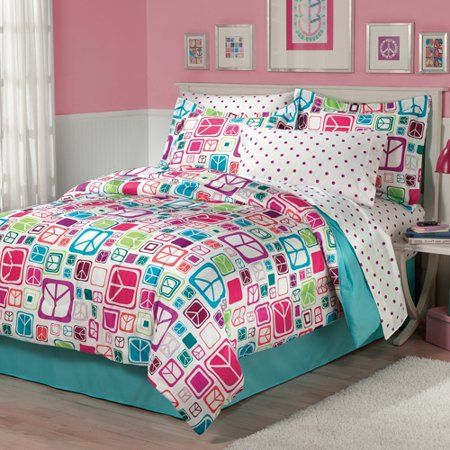 My Room Peace Out Bed In A Bag Bedding Set Walmart Com