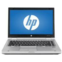 "Refurbished HP Silver 14"" EliteBook 8470P WA5-1056 Laptop PC with Intel Core i5-3210M Processor, 4GB Memory, 320GB Hard Drive and Windows 10 Home"