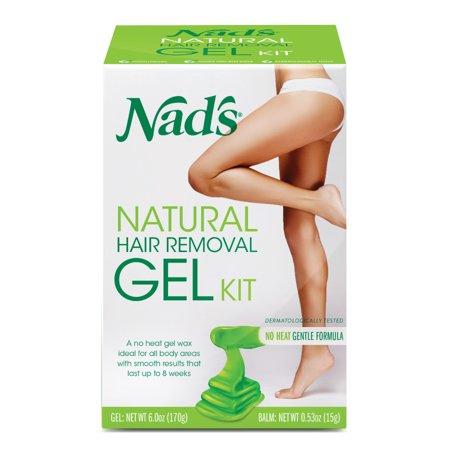 Nad's Natural Hair Removal Gel Wax Kit, 6 -
