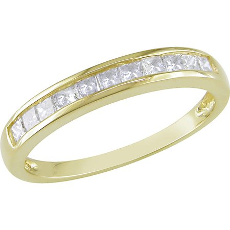 1/2 Carat T.W. Princess-Cut Diamond 14kt Yellow Gold Semi-Eternity Anniversary Ring