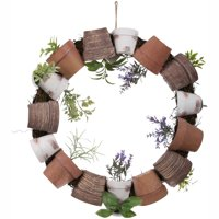 Spring time Wreath, Potted Plants