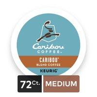 (4 Pack) Caribou Coffee Caribou Blend, Keurig K-Cup Pods, Medium Roast, 18 Count