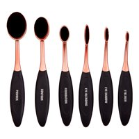 Premium Oval Makeup Brush Set, 6 Pieces ($23 Value)