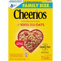 (2 Pack) Cheerios, Gluten Free, Breakfast Cereal, 18 oz Box