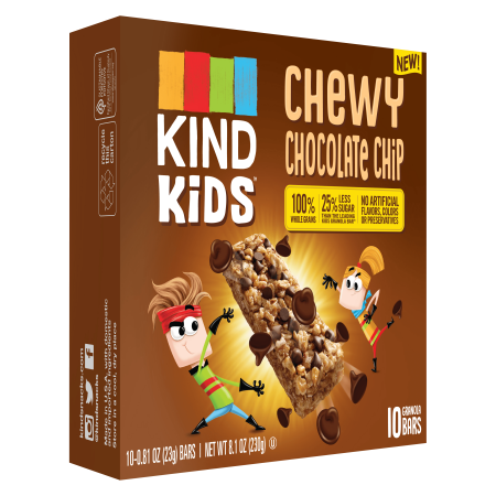 Oatmeal Chocolate Chip Bites ((2 Pack) KIND Kids, Chocolate Chip, 10 Ct, 0.81 Oz, Gluten Free Granola Bar )