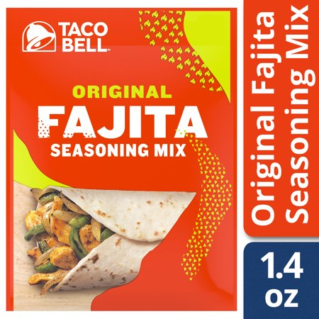 Taco Bell Original Fajita Seasoning Mix 1 4 Oz Envelope Walmart Com