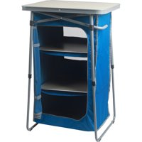 Ozark Trail 3-Shelf Collapsible Cabinet with Table Top, Blue