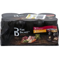 Pure Balance Adult Variety Wet Food Recipe Pack, Beef and Chicken with Vegetables, 75 oz, 6 Count