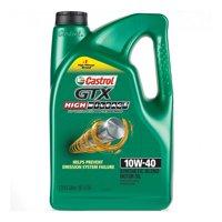 Castrol GTX High Mileage 10W-40 Synthetic Blend Motor Oil, 5 QT