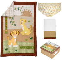 Lion King Under the Sun 4 Piece Crib Bedding Set