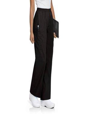 ScrubZone by Landau Women's Plus Elastic Waist Cargo Scrub Pant, Style 83221