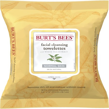 Extreme Towelettes - Burt's Bees Facial Cleansing Towelettes, White Tea Extract, 30 ct