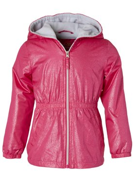 Spray Foil Print Anorak Jacket with Fleece Lining (Little Girls & Big Girls)