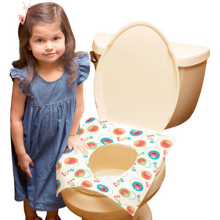 Sesame Street Disposable Toilet Seat Covers, 40 (Toilet Seat Cover Packs)
