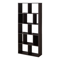 Mainstays 12-Cube Bookcase, White or Espresso