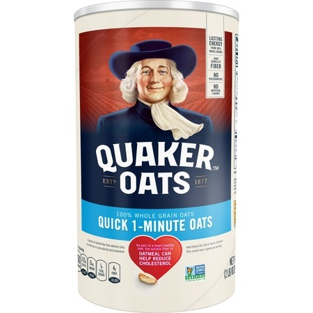 Quaker Oats, Quick 1 - Minute Oatmeal, 42 oz Canister (700 Oats)